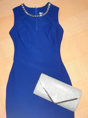 Prelepa kraljevsko plava haljina, uzak model. Dužina kao na slikama. - Kikinda