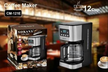 профессиональная кофеварка для кофейни в Кыргызстан: Кофеварка Sokany CM-121EОсновные параметры:Напряжение: 220-240