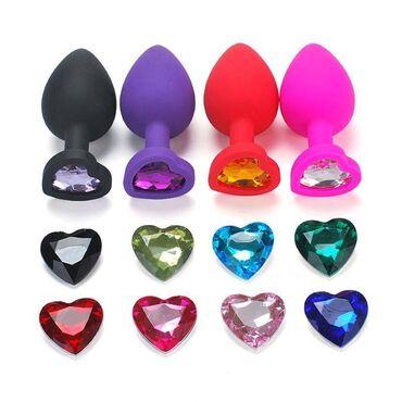 редми нот 8 про цена в оше in Кыргызстан   APPLE IPHONE: Красивые анальные пробки в форме сердечка разных цветовРазмер - S-2.8