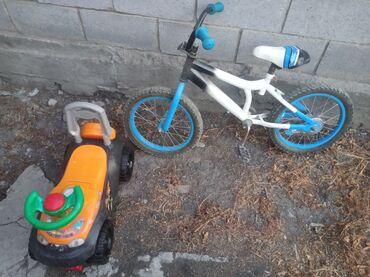 Детский мир - Пос. Дачный: Продается машинка и велосипед детские