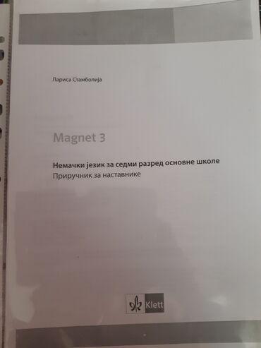 Magnet 3, Nemacki za 7 razred, Prirucnik za nastavnike sa resenjima iz