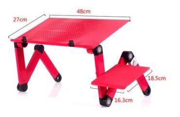 usb адаптер для наушников в Кыргызстан: Складной портативный металлический столик для ноутбука отличного