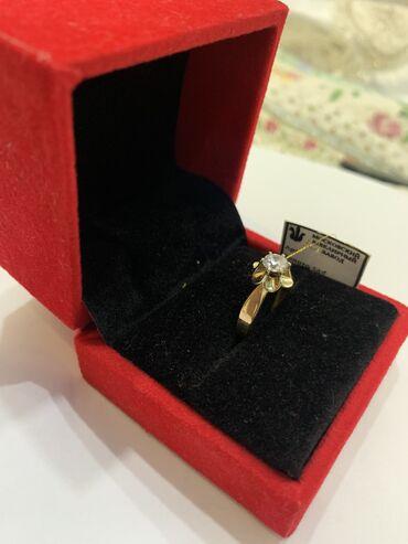 Кольцо для предложения 17 размер с камушкой и с шкатулкой