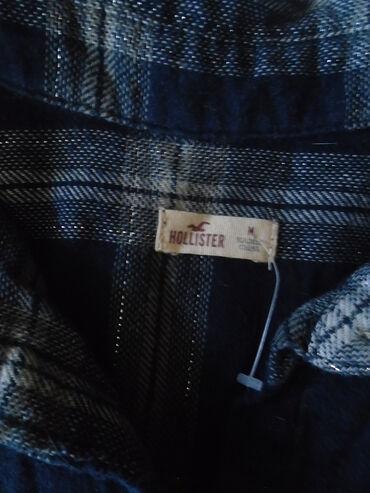 Amisu karirane bermude - Srbija: Hollister karirana košulja, diskretno protkana srebrnastim nitima od