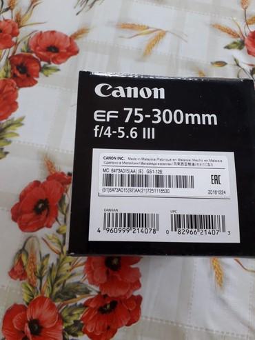 Elektronika Qobuda: Canon lens EF 75-300 mm f/4-5.6 yeni fikri ciddi olanlar yazsin France