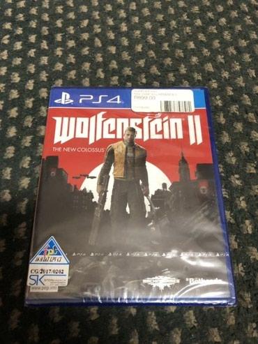 Bakı şəhərində Ps4 ucun Wolfenstein 2 oyunu tam bagli upokovkada orginal catdirilma
