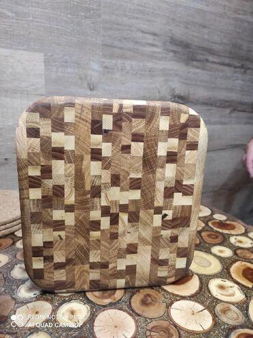Другие товары для кухни - Кыргызстан: Продаются торцевые, разделочные доски, размер 23 см х 24 см, высот 4 с