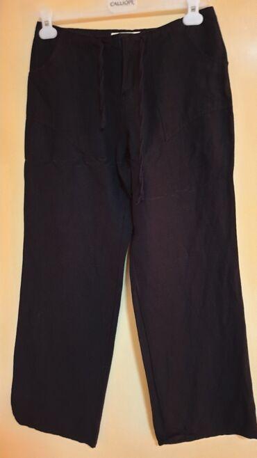 Lanene pantalone - Srbija: ZARA-LANENE PANTALONE VEL S-M MADE IN ITALY-HITNO