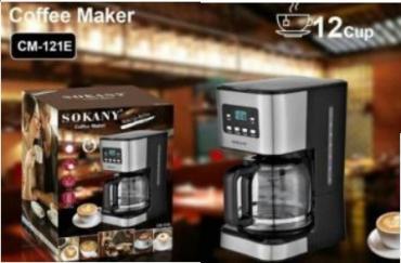 газовые кофеварки в Кыргызстан: Кофеварка Sokany CM-121E  доставка по городу бесплатно ватсап