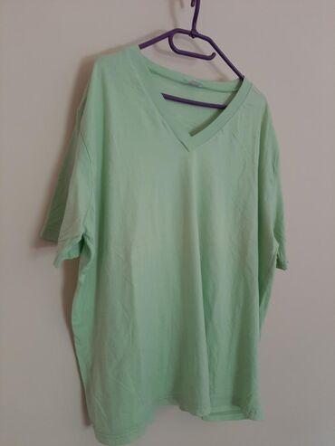 Majica pamucna xl - Srbija: Zenska majica pamucna. Vel XL. nezno zelena boja