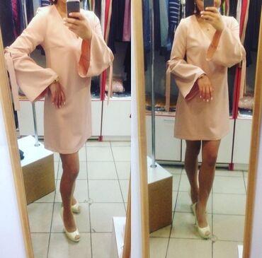Платье размер М (38) отлично скроет живот,для тех кто не любит