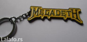 Privezak za ključeve sa motivom čuvenog metal benda megadeth, nov, - Belgrade