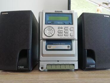 Muzička linija Aiwa. Linija ima radio FM, Cd (neispravan), dek za