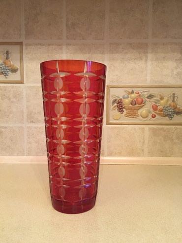 цветы живопись в Кыргызстан: Продаю вазу для цветов. Хрусталь. СССР. Высота 31 см, диаметр 14 см