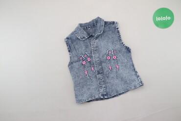 Детский мир - Украина: Дитяча джинсова блуза з нашивкою   Довжина: 36 см Напівобхват грудей