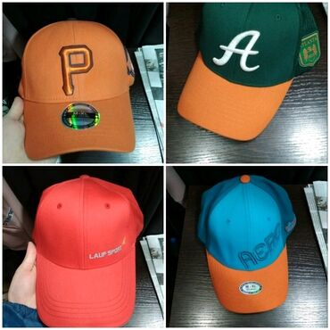 Унисекс корейские кепки высшего качества. 6 штукРазмер: M-XL (на