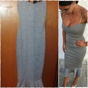 Svaku priliku haljina - Srbija: Blondy sirena haljina, kariranog dezena. Sa tankim srebrnim bretelema