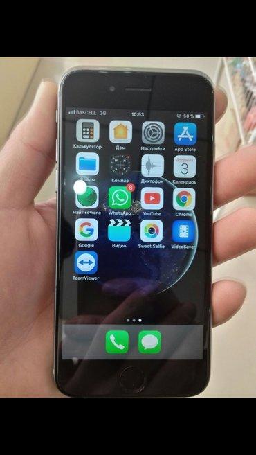 Sumqayıt şəhərində Iphone 6 16Gb seliqeli ishlenmishdir hec bir problemi yoxdur