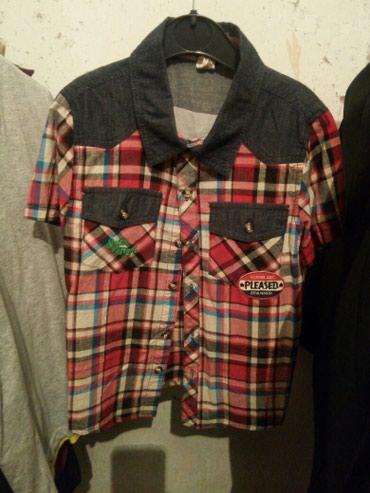 Рубашка с коротким рукавом новая.бордовая один раз одетая.качество в Бишкек