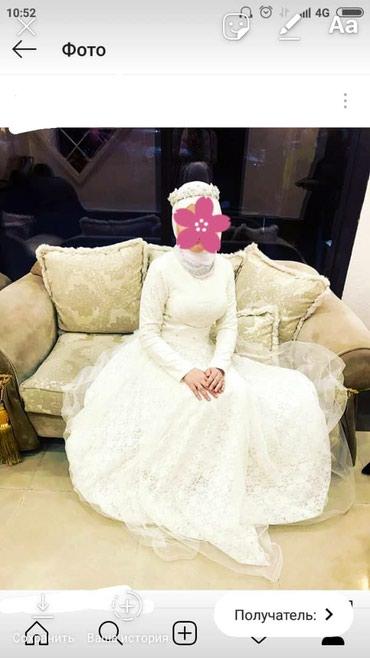 Свадебное платье для мусульманок. 1 раз одевали. в Бишкек