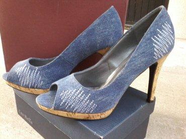 Od teksasa - Srbija: Cipele od teksas platna. Jednom obuvene, nisu oštećene. Vel.39