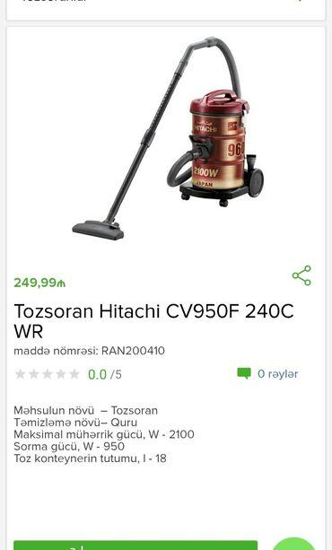 Tozsoran HitachiTam zəmanətləNəğd və 1 kartla ödənişEvdən birbaşa