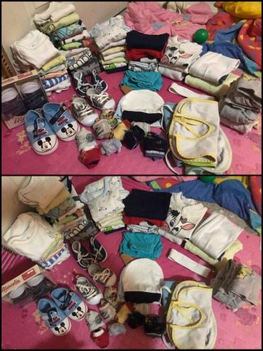 Paket garderobe i nehodajuće obuće za bebu dečaka. Paket sada - Kragujevac