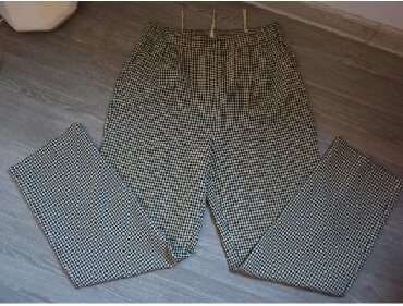 Pantalone struk elastina - Srbija: Pantalone kockice XLPantalone sa sitnim kockicama, kombinacija bez i