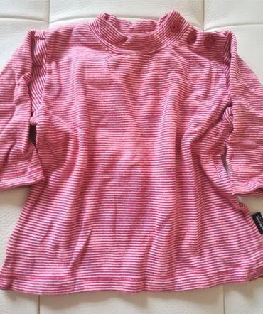 Bodi - Vranje: Bluzica na crveno bele pruge za 6-8 meseci, kvalitetna, poluobim ispod