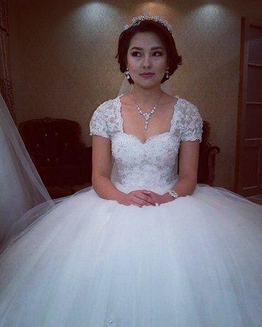 💥 Свадебное👰🏻 и вечернее платье💃🏻, свадебные туфельки👡, фата, бо в Бишкек - фото 8