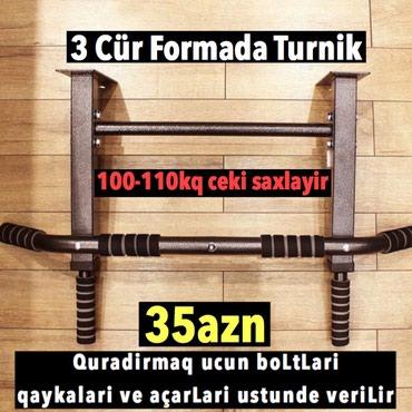 Bakı şəhərində 3 cur formada turnik