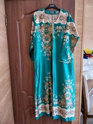 Продаю платье длинное красивое шёлковое размер 46-50 в Бишкек