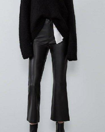 женские-брюки-черные в Кыргызстан: ВСЕ РАЗМЕРЫ: S, M, L. Цена окончательная. Новые. Zara. Турция