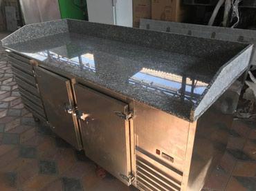 мойка для кафе бу в Кыргызстан: Стол холодильник с мраморной поверхностью и гастроемкостями, любых