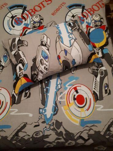 Dečija pamucna posteljina komplet sadrži 1 jastucnicu 50x70 navlaka
