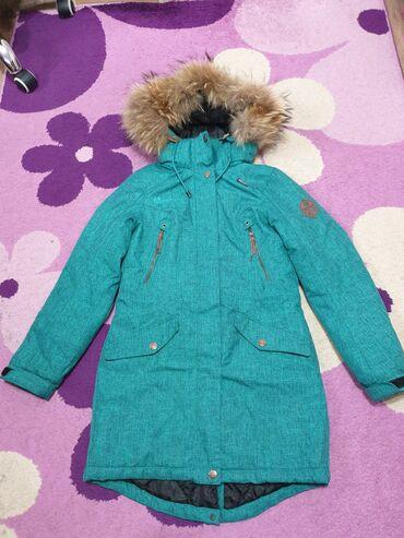 кожаная куртка мужская купить в Кыргызстан: Продаю зимнюю куртку,фирма Azimuth, носила дочь 2 сезона,размер 10-13