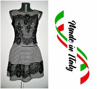 Haljina-please-italy - Srbija: *** ITALY *** crno bela sa cipkom MCrno bela haljina,made in