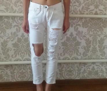 джинсы рваные в Кыргызстан: Продаю новые укороченный рваные джинсы, размер 29 отдаю за 800, брала