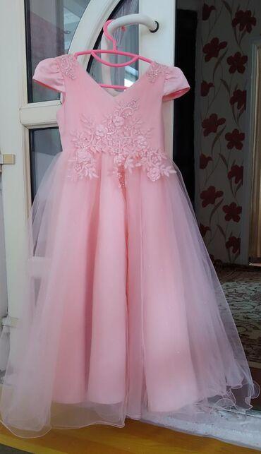 Красивое платье для девочек от 7 до 10 лет. Размер 8. Одевали всего 2