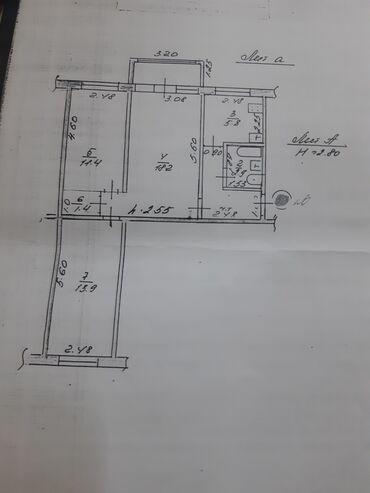 Продажа квартир - Без ремонта - Бишкек: Продается квартира: 104 серия, Цум, 3 комнаты, 58200 кв. м