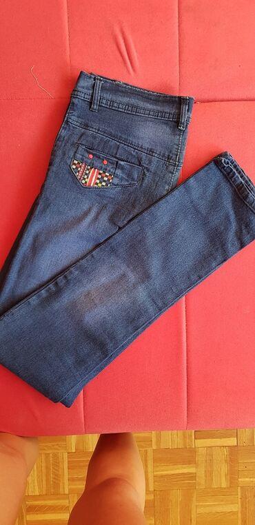 Zenske pantalo - Srbija: Zenske teskas pantalone  Nisu nosene dobijene na poklon  Velicina : M/