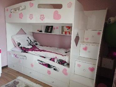 Детский мир в Дюбенди: Двуярусная кровать для девочек, очень мало использованная, находится