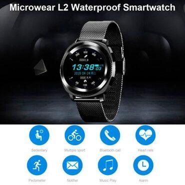 Suya davamlı tam original 1 il rəsmi zəmanətli smart saat, telefona Bl