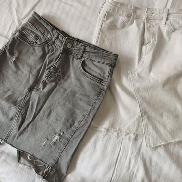 Мини-юбки в сером и белом цветеСостояние: 7/10Другое