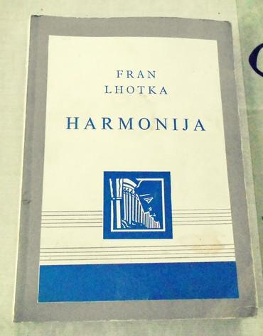Knjige, časopisi, CD i DVD | Loznica: Fran Lhotka HARMONIJA (osnovi homofonog sloga)III prerađeno