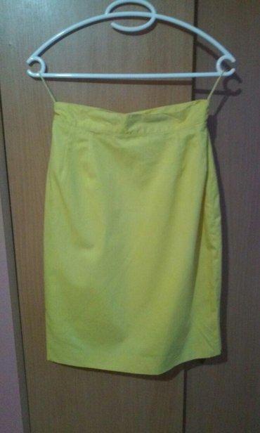 Personalni proizvodi | Vrnjacka Banja: Zuta,lepa suknja,uvek moderan,klasican kroj,tanji diolen,cela ima