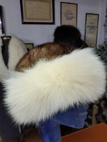 Tatarka od polarne lisice i nerca. Prirodno krzno. Obim 60cm
