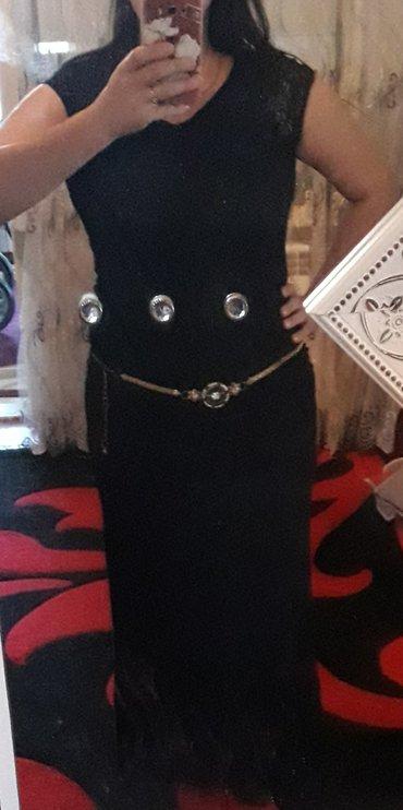 Sumqayıt şəhərində Продается черное вечернее платье, размер xl