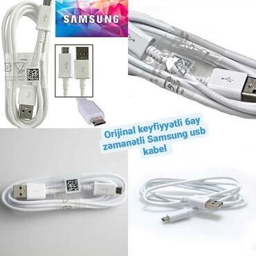 Zəmanətli, orijinal keyfiyyətli orijinal Samsung usb kabel Qiyməti 5AZ