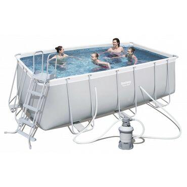Каркасный бассейн Bestway.Материал сделан из особо просного поливиниль